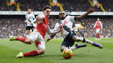 Premier League: Arsenal y Tottenham igualaron 2-2 y Leicester festeja en la punta