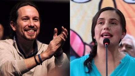 Líder de Podemos envió saludo a candidata presidencial Verónika Mendoza