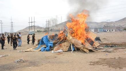 Trujillo: por tercera vez, desalojan a 30 familias invasoras