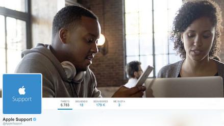 Twitter: Apple lanza un servicio de soporte técnico a través de la red social