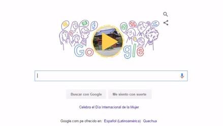 Google celebra el Día Internacional de la Mujer con nuevo doodle