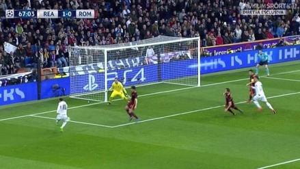 Real Madrid vs. Roma: James Rodríguez batió a Szczesny con gol de huacha