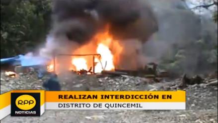 Quispicanchi: realizan interdicción minera en distrito de Quincemil
