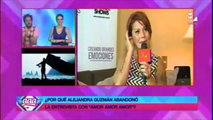 Video: Alejandra Guzmán cortó abruptamente entrevista con 'Peluchín'
