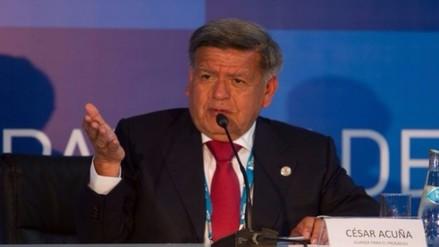 Acuña señala que Perú perdió a un presidente como él