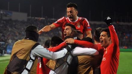 Benfica ganó 2-1 al Zenit y avanzó a los cuartos de final de Champions League