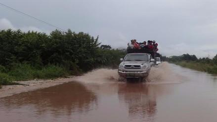 Moyobamba: más de 40 comunidades aisladas tras desborde de quebrada