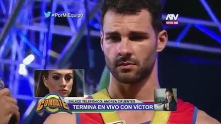 Andrea Cifuentes termina con su novio en programa en vivo