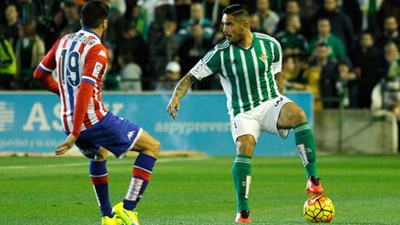 Juan Vargas en la mira de varios clubes tras destacar con el Betis en España