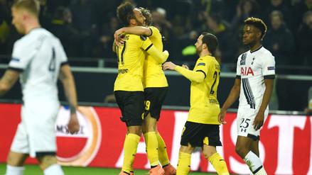 Europa League: Borussia Dortmund apabulló 3-0 al Tottenham por los octavos