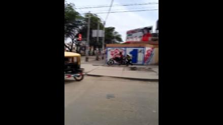 Piura: Motociclista infractor escapa de autoridades