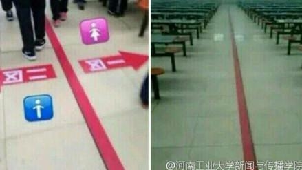 Escuela china no quiere que los niños y niñas se sienten juntos en la cafetería