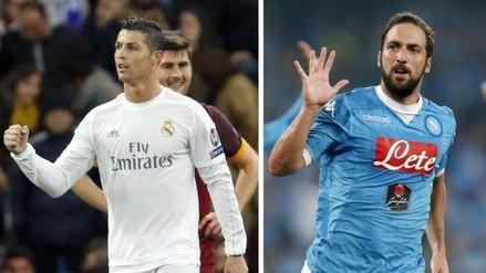 Bota de Oro: Cristiano Ronaldo y Gonzalo Higuaín lideran tabla de goleadores