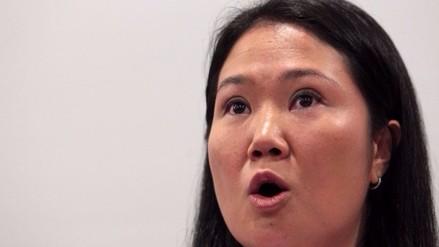 Keiko Fujimori: JEE pidió ampliación de informe por entrega de dinero