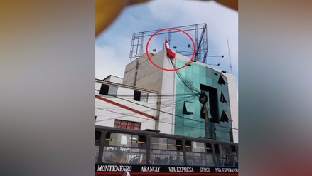 San Isidro: reportan bandera mal colocada en institución pública