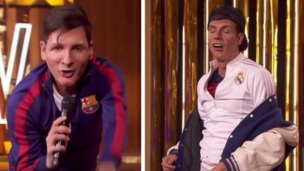 YouTube: dobles de Cristiano Ronaldo y Messi cantan juntos en programa