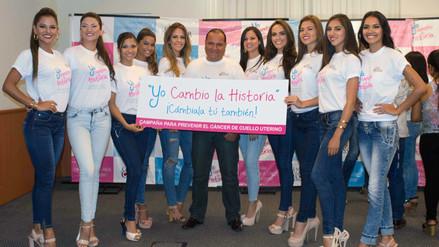 Miss Perú: candidatas se unen a campaña contra el cáncer