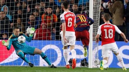 Barcelona vs. Arsenal: David Ospina evitó con la cara gol de Lionel Messi