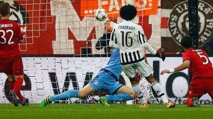Bayern Munich vs. Juventus: Juan Cuadrado anotó tras gran jugada de Morata