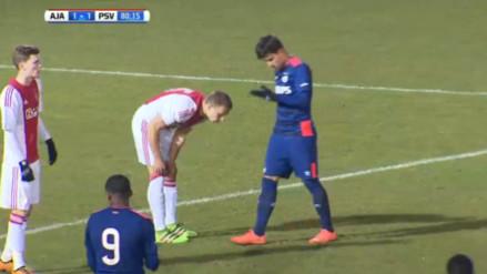 Luiz Da Silva presente en remontada de Jong PSV ante Jong Ajax en el clásico de filiales