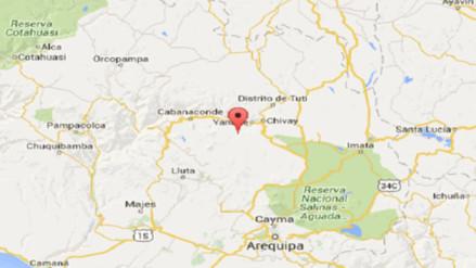 Continúan registrándose sismos en Caylloma