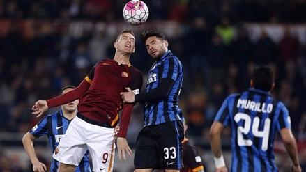 Roma empató con Inter de Milán y asegura su boleto en Champions