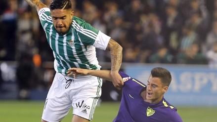 Juan Vargas: Real Betis perdió 1-0 ante Málaga por la Liga BBVA