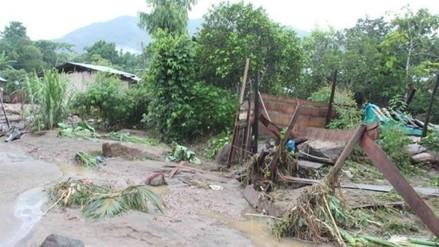 Lamas: desborde de río Shanantina deja 10 casas afectadas