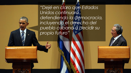 Barack Obama asegura que el embargo sobre Cuba