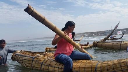 Huanchaco: Verónika Mendoza promete zona protegida para pesca artesanal