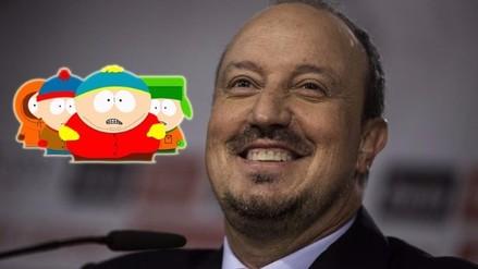 Twitter: Rafa Benítez lució medias de South Park en el Newcastle - Sunderland