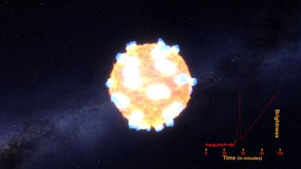 Observan por primera vez la onda de choque de una supernova