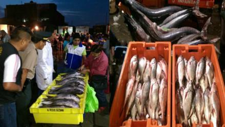 Decomisan 120 kilos de pescado en mal estado que se vendía por Semana Santa