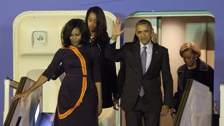 Barack Obama llega a Argentina