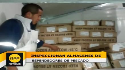 Realizan inspección a almacenes de expendedores de pescado