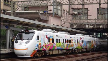 Facebook: conoce el tren temático de Hello Kitty en Taiwán
