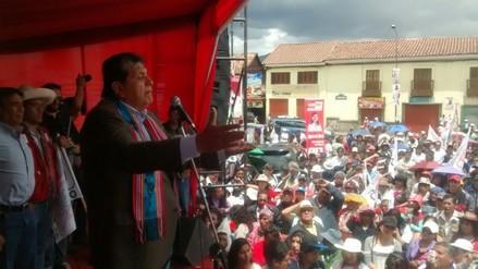 Alan García realiza actividades proselitistas en Cusco