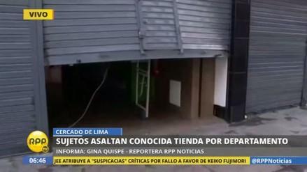 Asaltan tienda de Saga Falabella y se llevan decenas de electrodomésticos