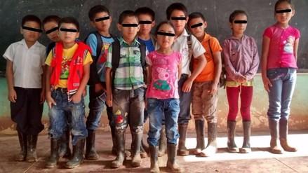 Piura: niños estudian en malas condiciones por falta de carreteras