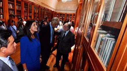 Biblioteca regional de Arequipa recibió nueva donación de libros de MVLl