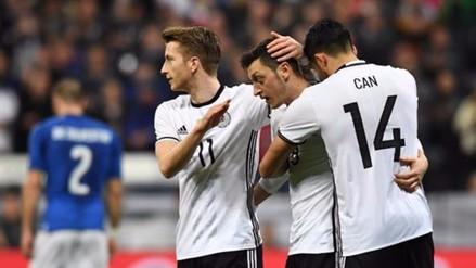 Alemania goleó 4-1 a Italia en un amistoso internacional jugado en Múnich