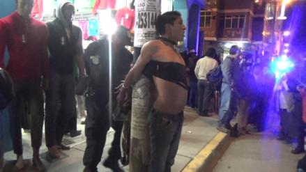 Huancayo: golpean a ladrón que robó celular a joven