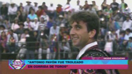 Antonio Pavón fue 'troleado' por el público en corrida de toros