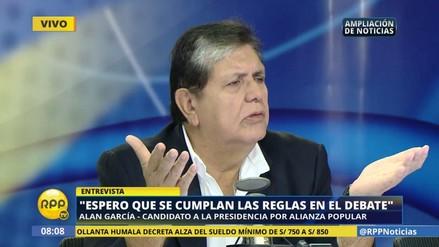 """Alan García: """"Es un hecho de Dios que me toque debatir con Olivera"""""""