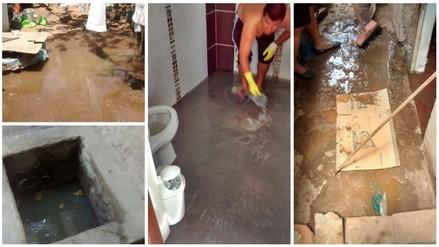 Moche: desagüe inunda viviendas del centro poblado Miramar