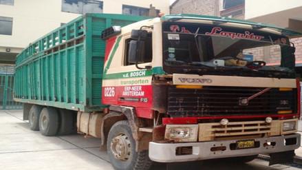 Inmovilizan camión valorizado en más de 200 mil soles
