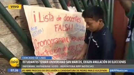 Video: Universidad San Marcos fue tomada por grupo de estudiantes