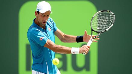 Novak Djokovic venció a David Goffin y llegó a la final del Masters de Miami