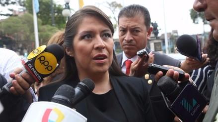 JEE abre proceso de exclusión contra Yeni Vilcatoma por supuestas dádivas