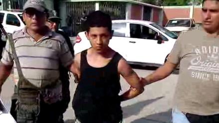 Delincuente de 18 años fue capturado tras asaltar a cambista en Aguas Verdes